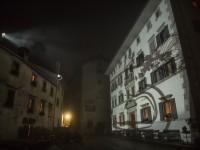 Fassaden Projektion in Soglio